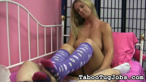 Jenny s horny knee high socks. Jenny loves giving foot jobs to cocks she likes. Of course, she has to wear her knee high socks. That's the only way she can stroke off a guy with her exciting feet.