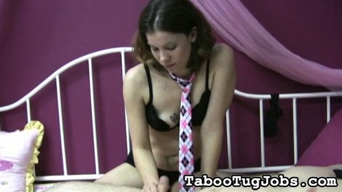 A formal tug job from faith. On certain occasions, Faith loves dressing up in her favorite pink tie to jerk off a pleasant cock.