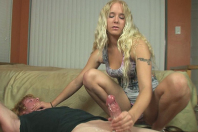 Dick jerking queen 1. This cock handling Queen does it for the cum, so she keeps her yanks quick and intense. Blackmail is extremely fun.