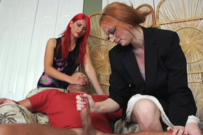 Rough hand jobs 91. Miss Lords know what to do. All Aianna has to do is get a elegant handle full of cock and balls and give it a mean twist.